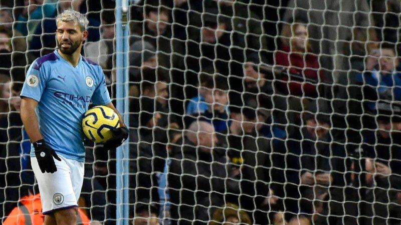 TO MÅL HOLDT IKKE: Sergio Agüero satte to, men det holdt bare til uavgjort for City.