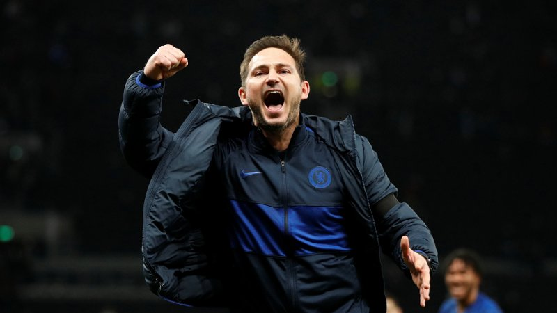 Soccer Football - Premier League - Tottenham Hotspur v Chelsea - Tottenham Hotspur Stadium, London, Britain - December 22, 2019 Chelsea manager Frank Lampard celebrates after the match Action Images via Reuters/John Sibley EDITORIAL USE ONLY. No use with unauthorized audio, video, data, fixture lists, club/league logos or