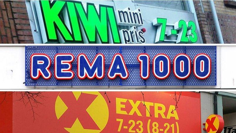 Rema 1000 Kiwi Extra butikkjeder lavpriskjeder