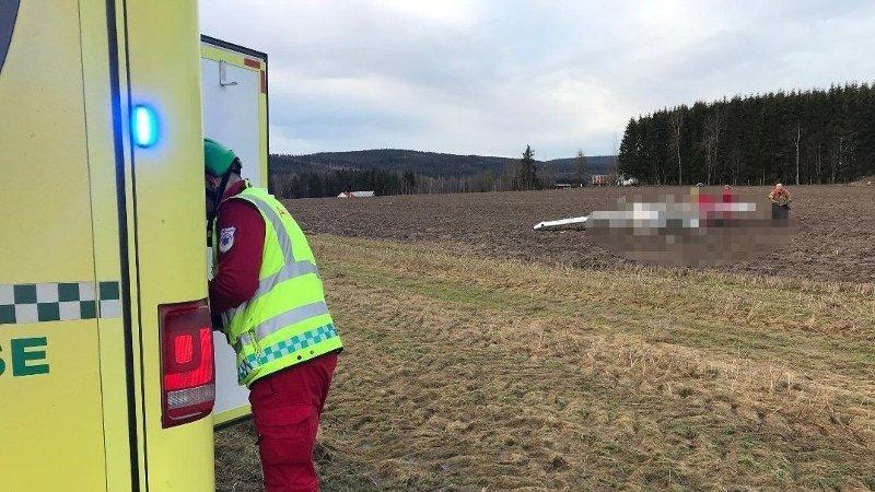 ULYKKE: Et småfly har havarert på Gjølstad flyplass i Kongsvinger.
