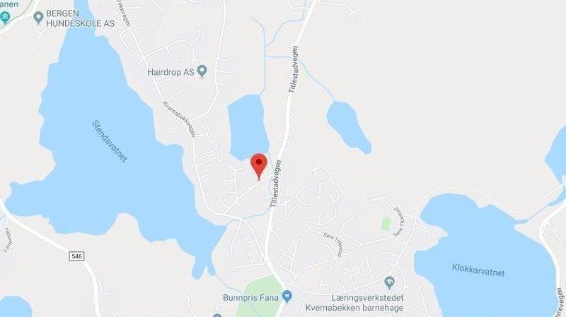PÅKJØRT: En 16 år gammel jente ble påkjørt i Bergen onsdag formiddag.