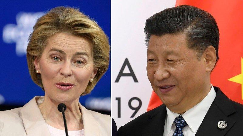 ADVARER: EU-kommisjonens ferske president Ursula von der Leyen kommer med en advarsel til Kina og president Xi Jinping