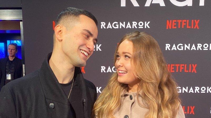 Cengiz Al og kjæresten Maiken blom på den røde løperen utenfor Colosseum kino i forbindelse med premieren på «Ragnarok».