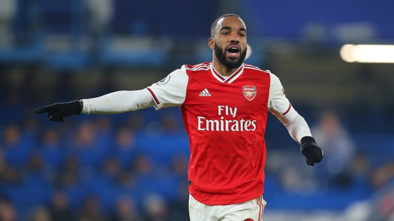 ArsenalÕs Alexandre Lacazette during the Premier League match at Stamford Bridge, London. Picture date: 21st January 2020. Picture credit should read: Paul Terry/Sportimage via PA Images