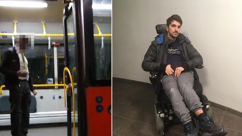 Amir Hashani er rullestolbruker, og opplevde at Oslo-bussen lukket døren og kjørte fra ham. Det var siste buss for natten.