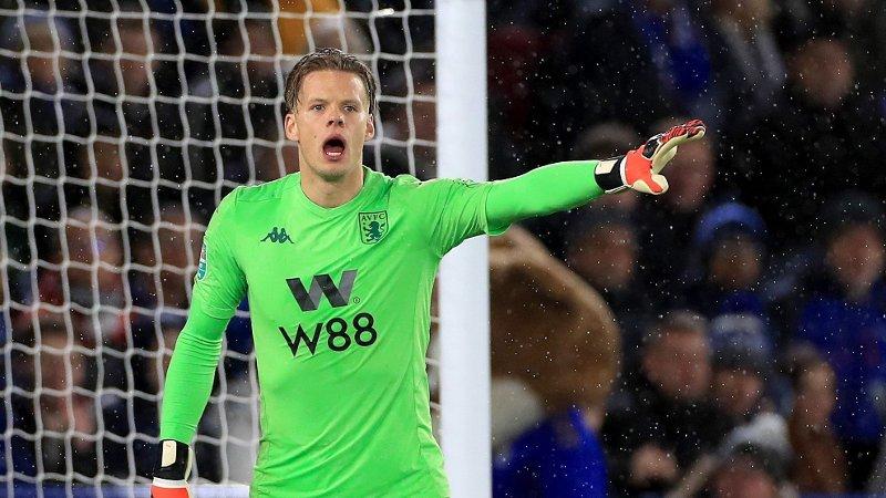 TILBAKE I MÅLET: Norges landslagsmålvakt Ørjan Nyland spiller fra start også i returkampen mot Leicester i ligacupen. Her fra det første oppgjøret på bortebane.
