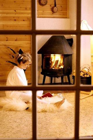 elektrisk peis i stede for varme