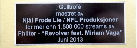 Gullplate til Njål Frode Lie (Foto: Siri Torset)