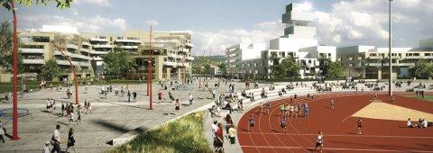 Boliger og aktivitetsarenaer i skjønn forening er det kommunen ønsker seg på Travbanen/Berskaug.
