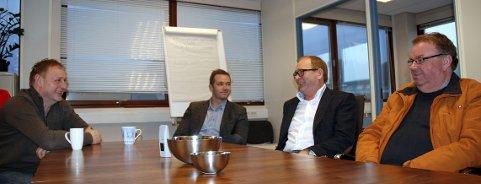 Vikarbyrået Emerio Norge har gitt mange arbeidsledige nye jobber. Blant dem er Stig Landgren (t.v.) og Tor Erik Johansen (t.h.), begge fra Peterson.