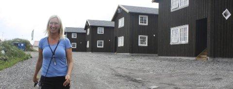 NYBYGG: Daglig leder i Vestby Gjestegård og Hyttepark, Merethe Eriksen, er godt fornøyd med å få på plass 20 nye leiligheter.