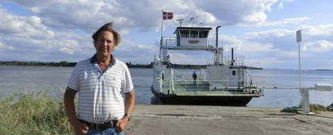Trafikkerte i Fredrikstad: John Erik Martiniussen kjente igjen «Go'vakker Maren» da han i fjor besøkte Danmark.foto: privat