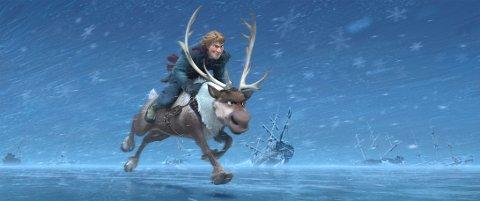 Kristoff og Sven i Frozen.