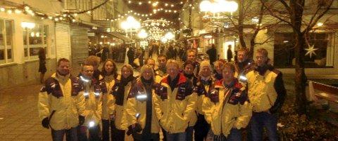 I 2008:  Denne gjengen gikk natteravn sammen en novemberkveld i 2008.  Haugesund har i dag god tilgang på natteravner. Arkivfoto: Karsten Hegland