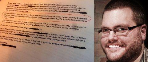 «Sjokomafia», kaller bloggeren Gunnar Roland Tjomlid (37) representanter for en «sunn» sjokolade, som skal ha truet med millionsøksmål og skremt en blogger til å avpublisere kritikken. foto: privat