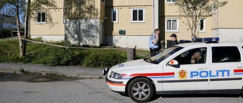 Åsted: Det var her, i Torvastadgaten 6, Gunnar Korneliussen ble drept. Arkivfoto: Alfred Aase