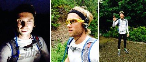 Jimmy Vika løp et nattmaraton, et skogsmaraton og et tredje maraton for moro skyld lørdag kveld.