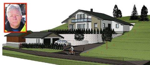 Roar Freddy Andreassen (innfelt)  får neppe lov til å bygge drømmehuset sitt på egen tomt. Nå er han irritert over at planutvalgspolitikere uttaler seg om synet sitt i forkant.