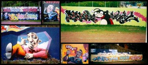 Bilder fra den gang Brakerøyaveggen var full av graffiti.
