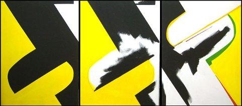 LANGE LINJER: Dette maleriet ble påbegynt i 1955 (partiet lengst til venstre) og fullført i 2005. FOTO: CHRISTIAN CLAUSEN.