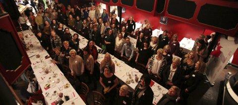 140 kvinner: Torsdag var 140 kvinner samlet på Tivoli Amfi i Moss for å bli inspirert til å satse enda hardere som gründere. foto: trine urstad