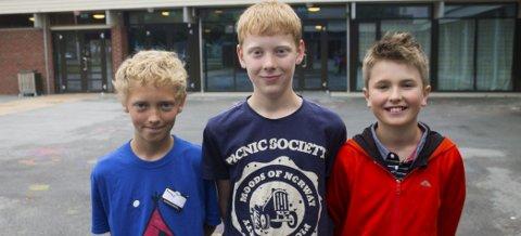PÅ «KODEVEKA»: Marius Frafjord (11), Martin Straumstein (12) og Nore Johan Berg (11) var deltakere på «Kodeveka» i Etna.