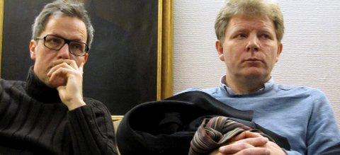 Skuffelsen var stor hos Geir Meum Olsen (t.v.) og Håkon Sæther, som begge har jobbet hardt for Barnas Fredsverden i flere år. Nå kan de se langt etter den planlagte åpningen 14. august 2014.