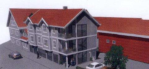 Slik ser prospektet i Thor Dahls gate 7A ut, med to leiligheter.
