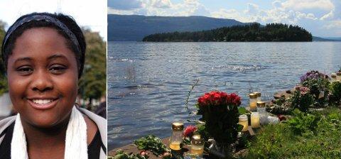 15 år gamle Modupe fra Drammen ble drept på Utøya.