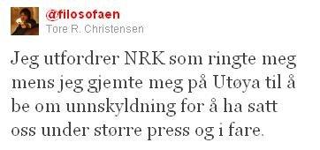 Tore Christensen prøvde å gjemme seg da han ble oppringt av journalister.