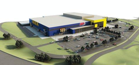 Ikea anslår selv at varehuset på Danebo står ferdig om to år.