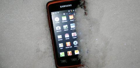 Populær mobiltelefon fordi den er robust og billig.