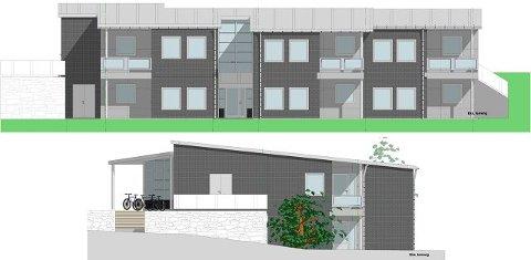 Slik blir bygget til rus og psykiatri. Det blir liggende i Øvre Langbråten, med fasade mor Skoleveien. tegninger: arkitektteam avd. moss