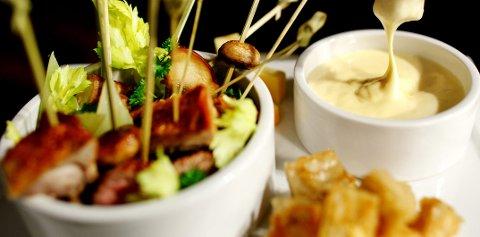 Du trenger ikke fonduesett for å spise fondue.