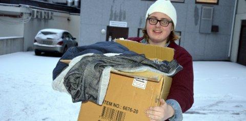 Elverumsnissen: I løpet av neste uke kommer Dennis Olsen fra Elverum til å reise til Oslo med så mye varme klær han klarer å bære for å dele ut til hjemløse.Foto: Håvard Hofstad Ruud