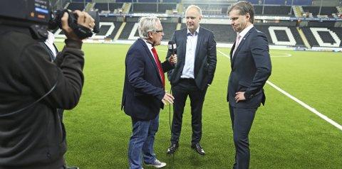 Mer av dette: TV 2s Davy Wathne kan få flere slike intervjuer når eliteserien kommer «hem». foto: Trond R. Teigen/NTB scanpix Foto: Trond Reidar Teigen / NTB scanpix