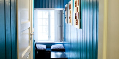 Det svenske rommet er et familierom. Et bad forbinder barnerommet og hovedrommet.