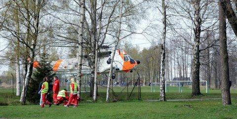 15-åringen ble hentet av et Sea King-helikopter. Gutten døde på Ullevål søndag.