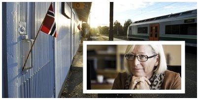 Samferdselsbyråd Marit Arnstad (Sp) sier at de etter en helhetsvurdering likevel har valgt å la Steinberg stasjon bestå.