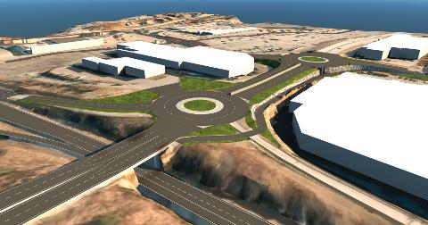 SLIK BLIR DET: Den nye firefelts-veien på Raglamyr er tenkt å se slik ut når arbeidet er ferdig i løpet av året. ILL.: STATENS VEGVESEN
