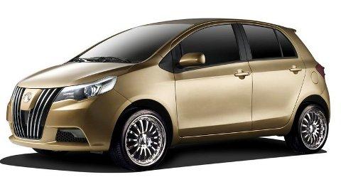 KLONING: Phenom, en Toyota Yaris-klone som Great Wall ønsker å selge i Europa.