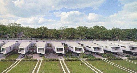Moderne rekkehus syd i Europa har gitt ideer til hvordan 30 boliger kan bygges inn i jordvollen mot rv. 19 og Sydoverveien.
