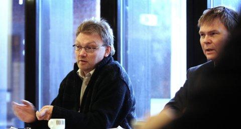Gudstjeneste: Brynjar Høidebraaten (til venstre) i KrF ønsket å tilby gudstjeneste til vålerelevene, og fikk støtte av blant andre Rune Rafshol (H).foto: terje holm