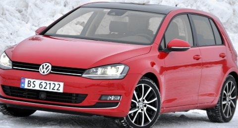 VW Golf på bestselgertoppen.