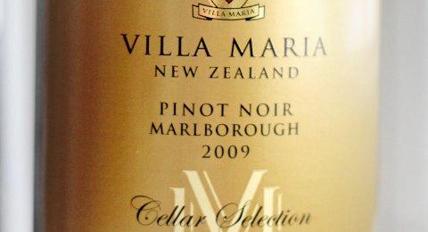 Villa Maria Cellar Selection Pinot Noir 2008 (best. nr. 4700101, kr 199,90, bestillingsutvalg).