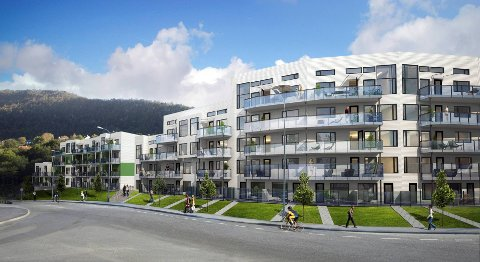På Slettebakken i Bergen er det bygget 108 leiligheter med en enkel infrastruktur for såkalt velferdsteknologi.