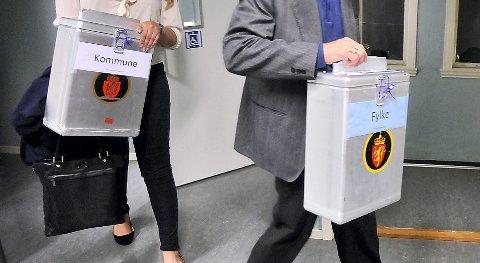 VALG: 81,8 prosent av de stemmeberettigede i Akershus stemte ved årets stortingsvalg. Bildet er fra forrige kommunevalg.