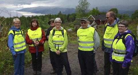TOPP TOPPTUR: Tjukkasgjengen fra Brumunddal som prøvde å få med seg modølene. Fra venstre: Turid Møgster, Frøydis Viddal, Erik Ulven, Randi Kavli, Inge Jonny Kavli, Håvard Spitsberg og Berit Sagmoen.