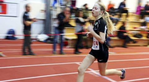 STORE OG GODE ÅRSKULL: Hanna Sørensen er ei av  flere lovende løpere i Haugesund Idrettslag (HIL) i årskullene 2001 og 2002. FOTO: GRETHE NYGAARD