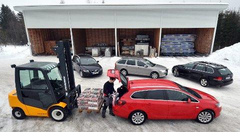 Opel Astra vinner foran Volvo V50, Skoda Octavia og VW Golf.